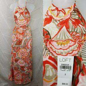Ann Taylor Loft Size 2 Tropical Chiffon Dress